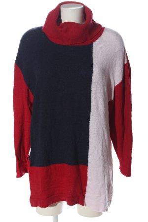 bpc bonprix collection Sweter z golfem Wzór w paski W stylu casual