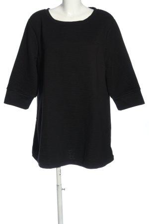 bpc bonprix collection Sweter z okrągłym dekoltem czarny Wzór w paski