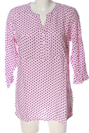 bpc bonprix collection Schlupf-Bluse pink-schwarz Punktemuster Casual-Look