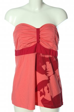 bpc bonprix collection Off-The-Shoulder Top pink-red abstract pattern