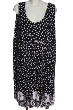 bpc bonprix collection Robe d'été noir-blanc motif de tache élégant