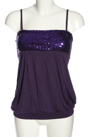 bpc bonprix collection Top z cienkimi ramiączkami fiolet W stylu casual