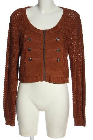 bpc bonprix collection Veste en tricot brun torsades style décontracté