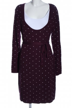 bpc bonprix collection Sukienka z dzianiny brązowy-biały Na całej powierzchni