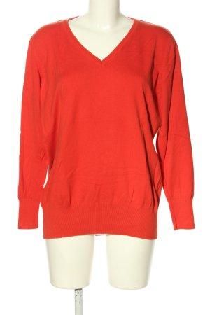 bpc bonprix collection Sweter z dzianiny czerwony W stylu casual