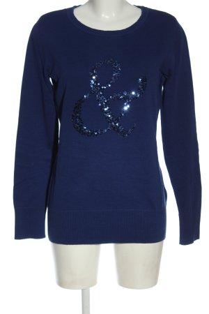 bpc bonprix collection Maglione lavorato a maglia blu stile casual