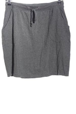 bpc bonprix collection Spódnica z dzianiny jasnoszary Melanżowy W stylu casual