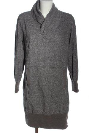 bpc bonprix collection Robe Sweat gris clair moucheté style décontracté