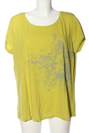 bpc bonprix collection T-Shirt blassgelb-hellgrau Motivdruck Casual-Look