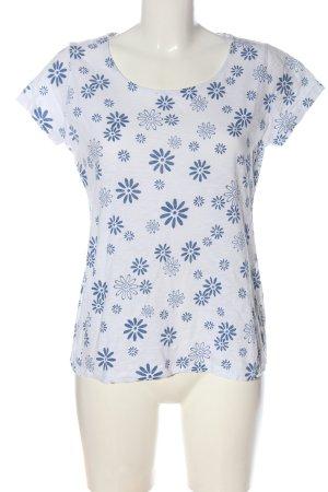bpc bonprix collection T-Shirt weiß-blau Allover-Druck Casual-Look