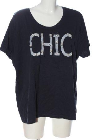 bpc bonprix collection T-shirt czarny-jasnoszary Wydrukowane logo W stylu casual