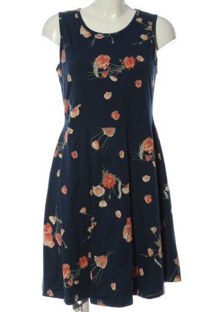 bpc bonprix collection Abito scamiciato blu-arancione chiaro motivo floreale