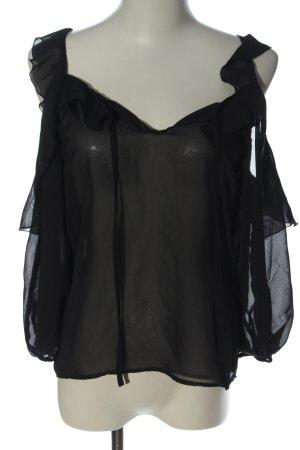 bpc bonprix collection Transparent Blouse black elegant