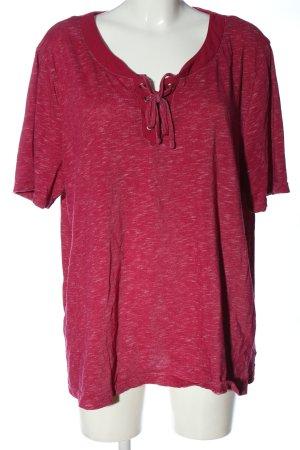 bpc bonprix collection U-Boot-Shirt pink meliert Casual-Look