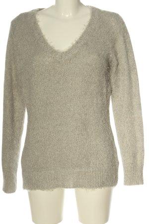 bpc bonprix collection Maglione con scollo a V bianco sporco puntinato