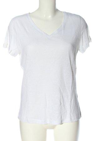 bpc bonprix collection Koszulka z dekoltem w kształcie litery V biały
