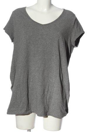bpc bonprix collection V-Neck Shirt light grey flecked casual look