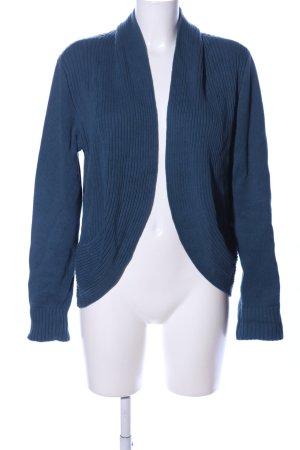 bpc Cardigan blau Zopfmuster Casual-Look
