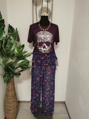 bpc selection Pantalon large brun pourpre
