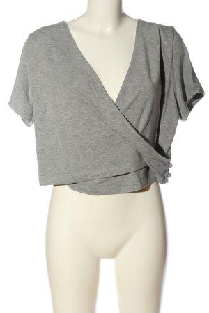 bpc Camisa recortada gris claro moteado look casual