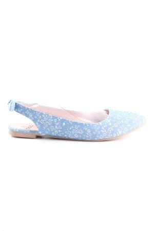 bpc faltbare Ballerinas blau-weiß Animalmuster Casual-Look
