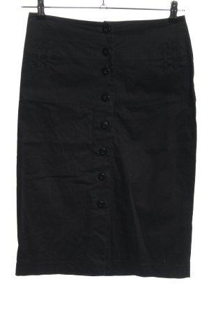 bpc Falda de talle alto negro look casual