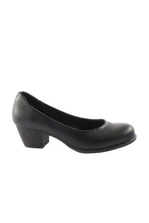 bpc Chaussure à talons carrés noir style d'affaires