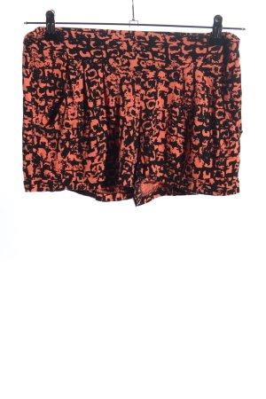 bpc Hot Pants schwarz-nude abstraktes Muster Casual-Look