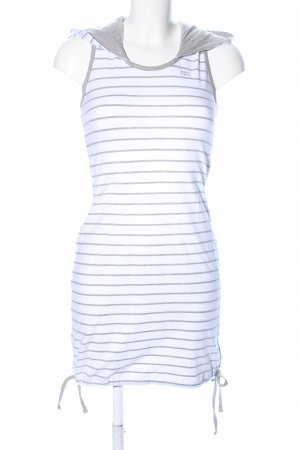 bpc Hooded Dress white-light grey striped pattern casual look