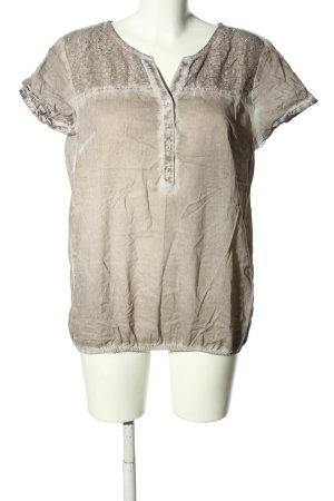 bpc Blouse à manches courtes brun style décontracté