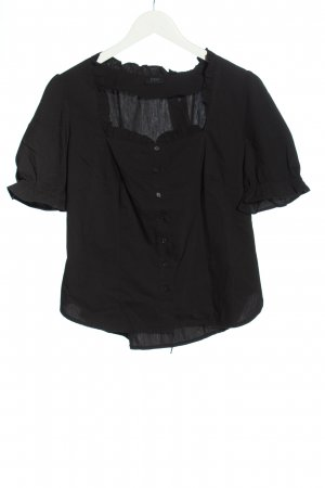 bpc Chemise à manches courtes noir style décontracté