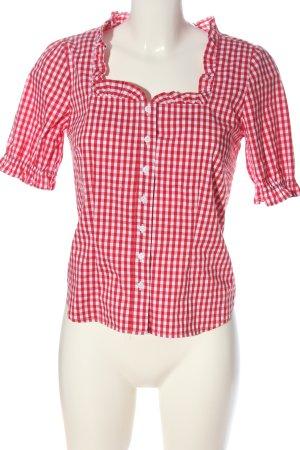 bpc Shirt met korte mouwen rood-wit geruite print casual uitstraling