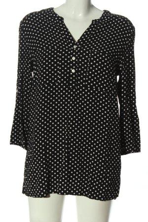 bpc Langarm-Bluse schwarz-weiß Allover-Druck Business-Look