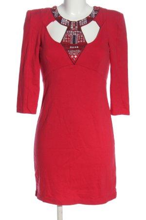 bpc Minikleid rot-silberfarben Elegant