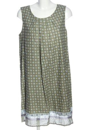 bpc Minikleid khaki-blau Allover-Druck Casual-Look