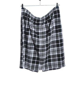 bpc Mini-jupe noir-blanc motif à carreaux style décontracté