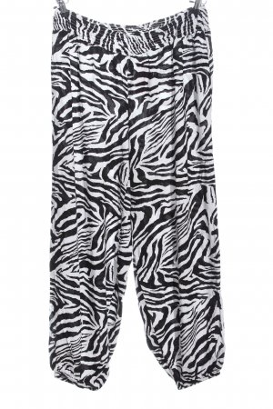 bpc selection Baggy Pants schwarz-weiß Allover-Druck Casual-Look