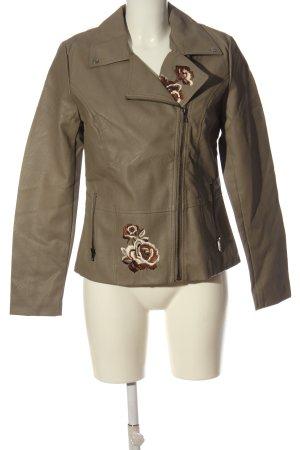 bpc selection Bikerjacke braun-wollweiß Blumenmuster Street-Fashion-Look