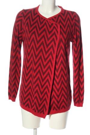 bpc selection Cardigan rood-zwart volledige print casual uitstraling