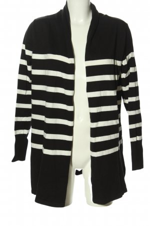 bpc selection Cardigan schwarz-weiß Streifenmuster Casual-Look
