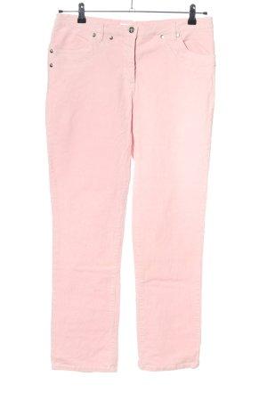 bpc selection Pantalon en velours côtelé rose style décontracté