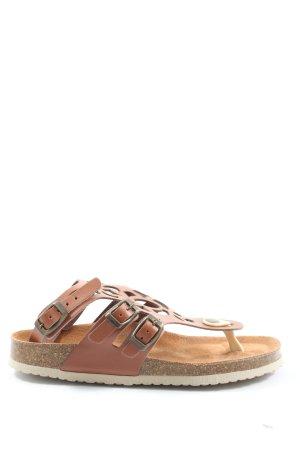 bpc selection Flip flop sandalen bruin casual uitstraling