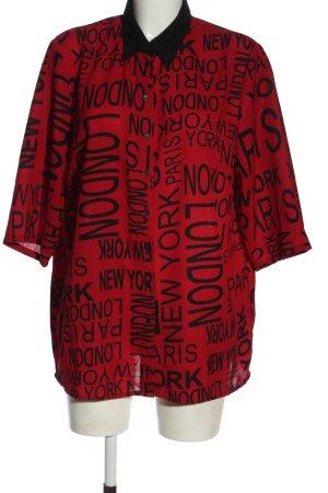 bpc selection Shirt met korte mouwen rood-zwart prints met een thema