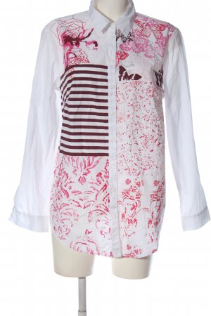 bpc selection Long Sleeve Shirt white-pink themed print casual look