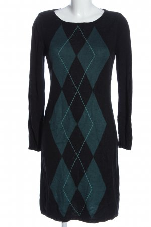 bpc selection Longsleeve Dress black-turquoise graphic pattern casual look