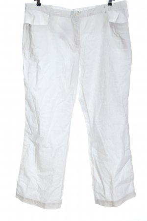 bpc selection Leinenhose weiß Casual-Look