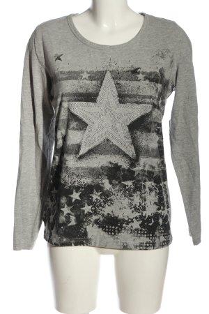 bpc selection Longsleeve light grey-black flecked casual look