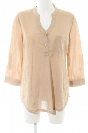 bpc selection Longsleeve creme-goldfarben Business-Look
