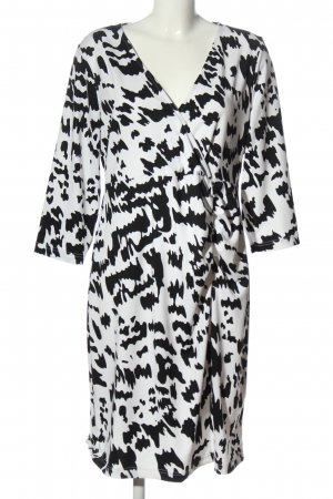 bpc selection Midi-jurk wit-zwart elegant