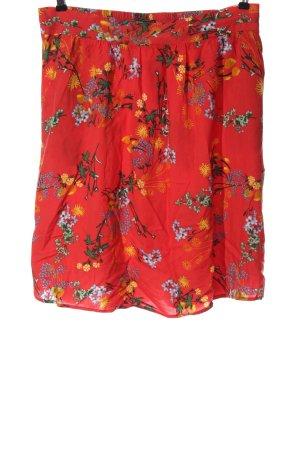 bpc selection Mini rok rood-licht Oranje volledige print casual uitstraling